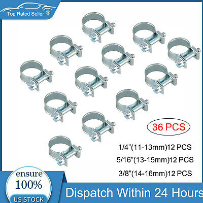 "Stainless Steel Fuel Injection Hose Clamps 10pc Pack 5//16/"" 6mm-8mm HPS 1//4/"""