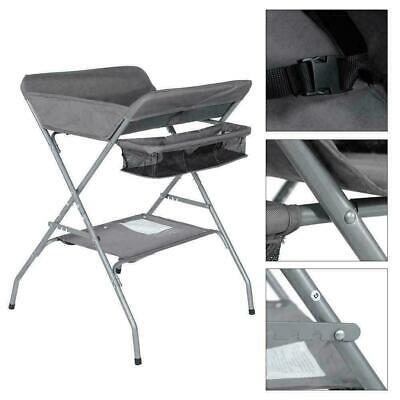 Multifunctional Folding Baby Infant Newborn Diaper Changing Table w/ Large Gray