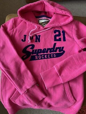 womens superdry hoodie, Limited Edition Vintage, Pink, Size Large  12-14