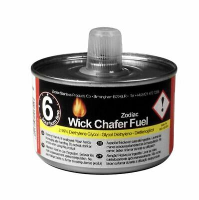 12 x Zodiac Liquid Wick Chafing Fuel Gel Can 4 Hour Warming Buffet Catering Tins