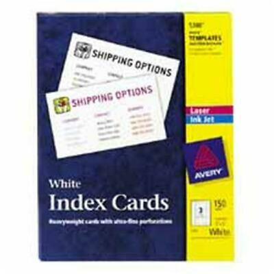 Laser-Inkjet Index Card- Perforated- 3in.x5in.- 1- White