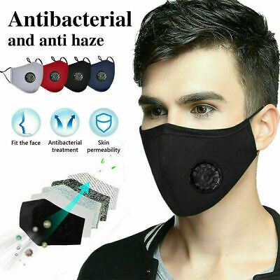 Protective Face Covering Reusable PM2.5 Face Mouth Valve 20Pcs Activated Carbon