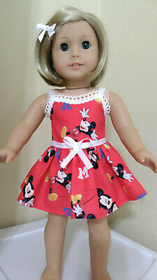 DRESS fits 18 inch American Girl  Doll Clothes DISNEY MICKEY MOUSE PARTY  #148