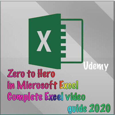 Complete video guide 2020 for Microsoft Excel zero to hero [Udemy_course]