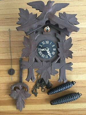 Vintage Black Forrest Small Cuckoo Clock Made In Germany