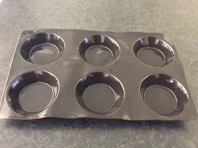 Demarle Flexipan 6 Large Cup Black Silicone Bakeware Mould Brand New
