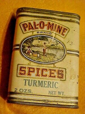 Vintage Pal-O-Mine Tin Spice Can Mcatee-Newell Coffee Co. Bloomington, IL ILL.