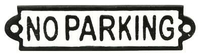 No parking Display Cast Iron Antique Vintage Sign Badge Wall Public Car Logo