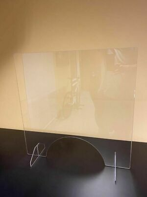 Sneeze Guard 1/8 Acrylic Clear Nail Table Barrier Shield Checkout Counter Desk