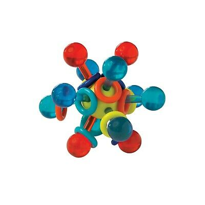 Manhattan Toy Transparent Atom Teether and Rattle Baby Toy