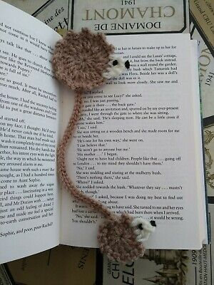 Handmade Crochet Hedgehog Bookmark Perfect Gift for Bookworms