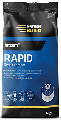 Everbuild JETCEM Rapid Setting Cement JETCEM 6KG Bag Strong Quick Fast Building