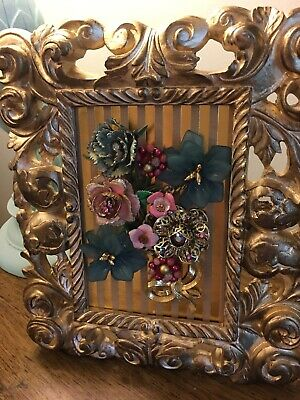 Vintage and Contemporary Jewelry framed art.