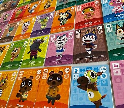 PICK FROM LIST - RARE Animal Crossing Amiibo Cards SERIES 3 & 4 - UNSCANNED
