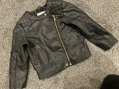 H&M Leather Look Jacket Gorgeous On Age 3-4 Years X