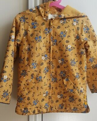 Girls 4-5 Lovely Floral Raincoat From Mothercare Ochre/ Mustard/ Floral