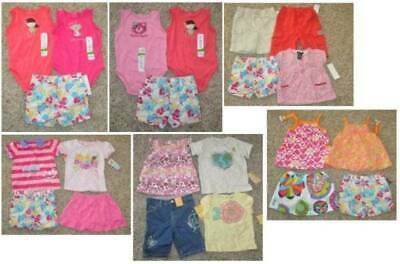 Girls Shorts Tank Top, Skirt Set Toddler Carters Chaps Summer Outfits, 18 months