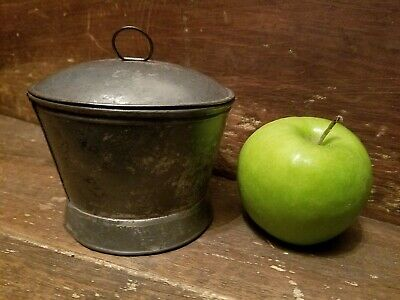 Antique Tin Sugar Bowl, Early 19Th Century , Super Nice Example
