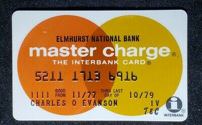 Elmhurst National  Bank MasterCharge exp 73♡Free Shipping♡cc320♡Town & Country