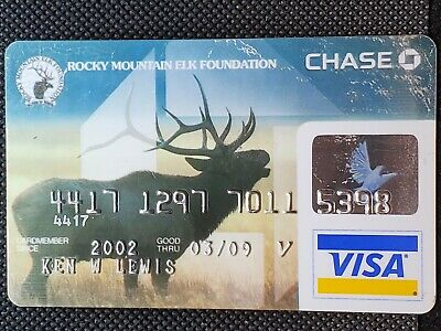 Rocky Mountain Elk Foundation Chase Visa exp 2009♡Free Shipping♡cc1427♡