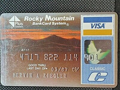 Rocky Mountain Visa Classic exp 1987♡Free Shipping♡cc1428♡
