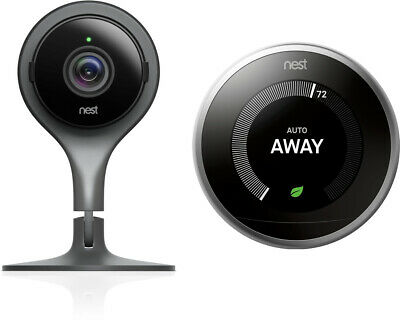 Nest Indoor Cam Security Camera and 3rd Generation Thermostat Bundle