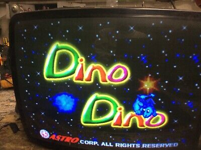 Dino Dino - 8 Liner Game Board - Works Great - Cool Graphics - Hard To Find ! !
