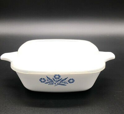 Vintage  Corning Ware Cornflower Blue Petite Pan P-41 With Plastic Lid