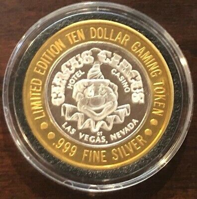 Circus Circus Las Vegas $10 Silver Strike Token 1993 Clown Error Limited 300