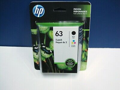 HP 63 Ink Cartridge Combo Black & Color 2-Pack NEW Genuine exp date 2021 L0R46AN