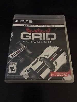 COMPLETE GRID Autosport Limited Black Edition (Sony PlayStation 3, 2014) PS3
