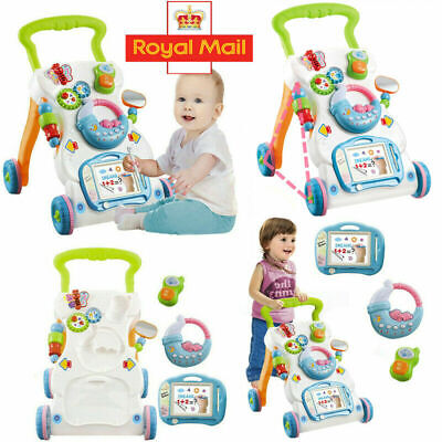 Interactive First Steps Activity Push Along Walking Musical Baby Walker New Toys