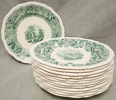 Set of 12 Lovely Copeland Spode Cow Motif Plates - English - FREE U.S. Shipping!