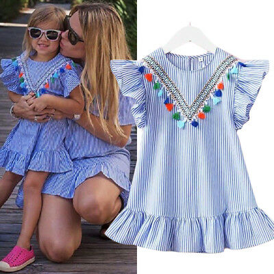 US Boutique Toddler Baby Kids Girl Princess Summer Casual Dress Sundress Clothes