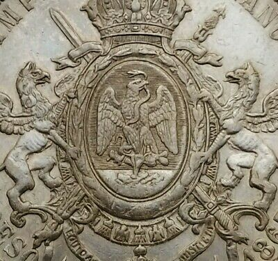 SCC Mexico Maximillian Empire 1 Peso 1867Mo. KM#388.1. Silver Dollar Crown coin