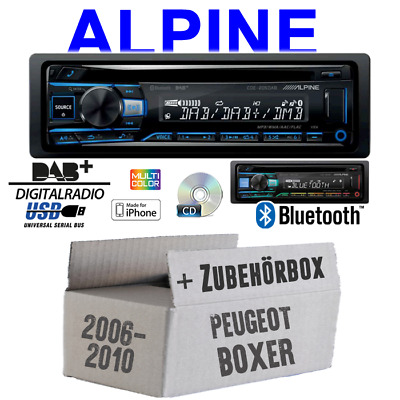 Alpine Radio for Peugeot Boxer From 2006 Bluetooth DAB+ CD/USB Apple Android