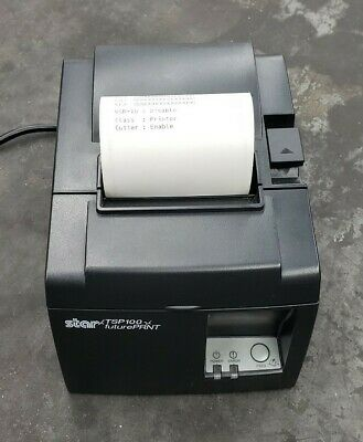 Star TSP100 FutrePRNT USB Thermal Receipt Printer & Power Cable USED