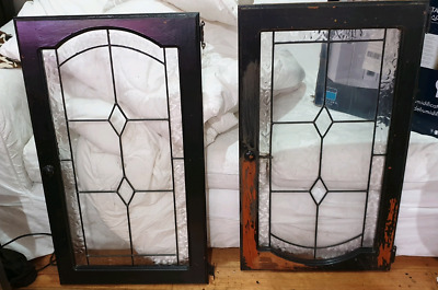 A pair of leadlight door for period home stunning just need a cle