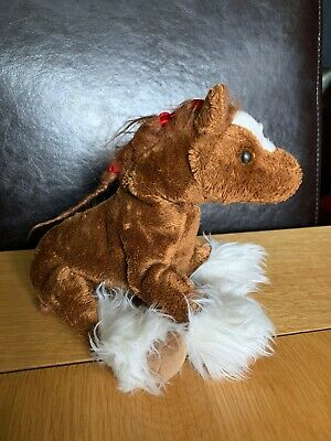 TY Authentic Beanie Baby Hoofer The Clydesdale Horse - Rare, Retired,