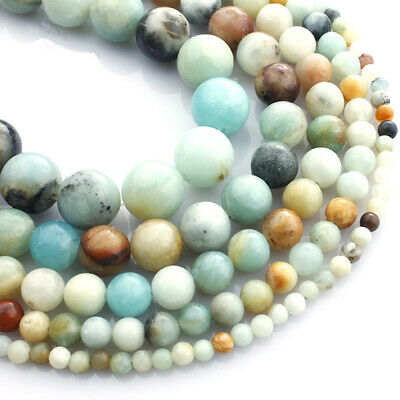High Quality Natural Colorful Amazonite Gemstone Round Beads 16'' AAA+ 4mm-12mm