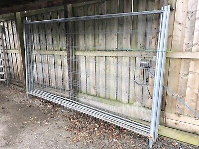 Harris Security Temporary Metal Fencing Building Site Safety Panels & clamps