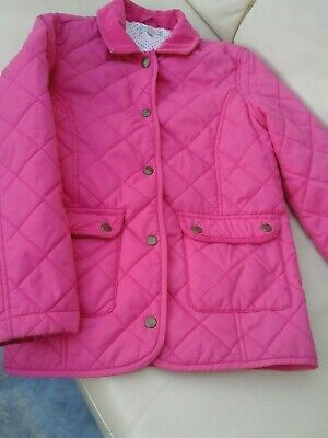 Girls M & S Indigo pink quilted coat age 11-12