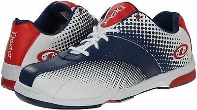 Dexter Men's Frank Bowling Shoes - White/Navy/Red, US:15, UK:13