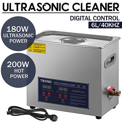 Digital 6L Ultrasonic Cleaner Cleaning Equipment Industry Heated W/ Timer Heater