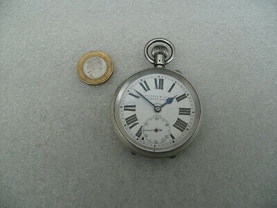 Antique 8 Day Silver Edwards & Son Pocket Watch