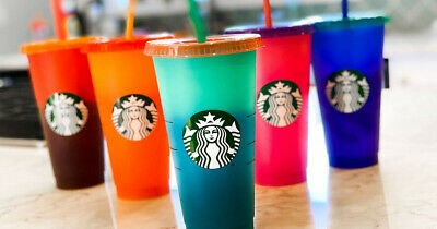 🚨🌈 NEW 2020 Starbucks PRIDE Color Changing Reusable Cup 🌈🚨