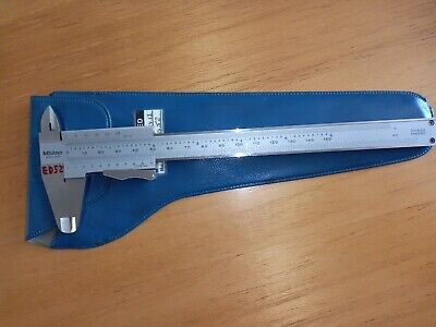 "MITUTOYO 6"" 150mm STAINLESS VERNIER CALIPER & DEPTH / HEIGHT GAUGE VINTAGE"