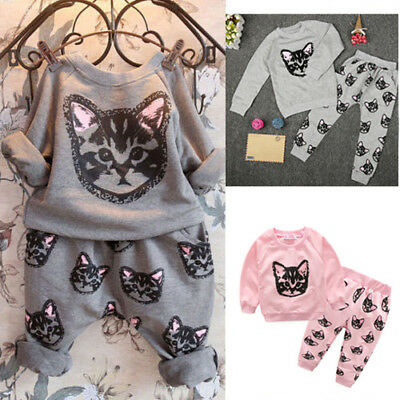 Toddler Baby Girls Long Sleeve Tops T Shirt Pants Leggings Outfits Clothes