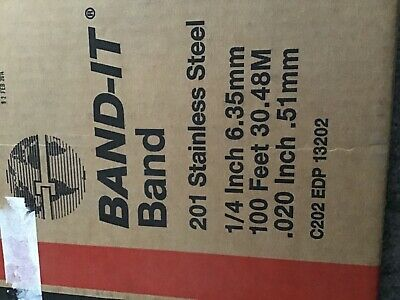Band-it 201 stainless steel banding 1/4inch x 100 feet  c 202EDP