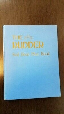 The Rudder: Sail Boat Plan Book Hardcover 1944 The Rudder Publishing CO. Vintage